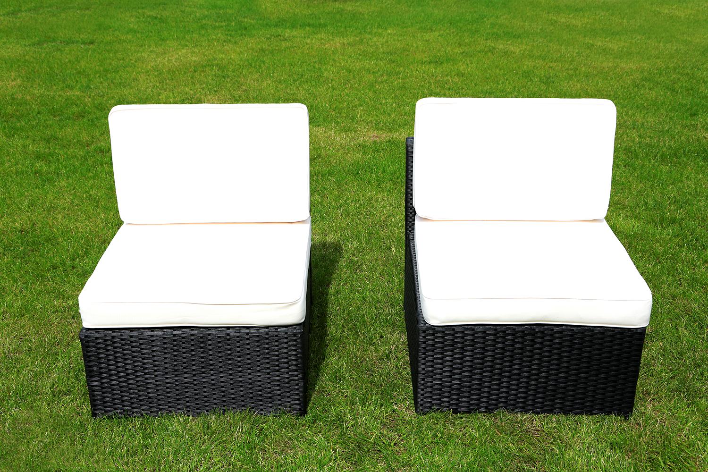 mcombo 6tlg poly rattan gartenm bel sofa ohne armlehnen ebay. Black Bedroom Furniture Sets. Home Design Ideas