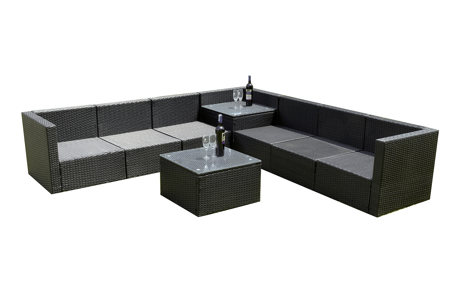 mcombo 20tlg poly rattan gartenm bel sitzgarnitur sitzgruppe sofa ebay. Black Bedroom Furniture Sets. Home Design Ideas