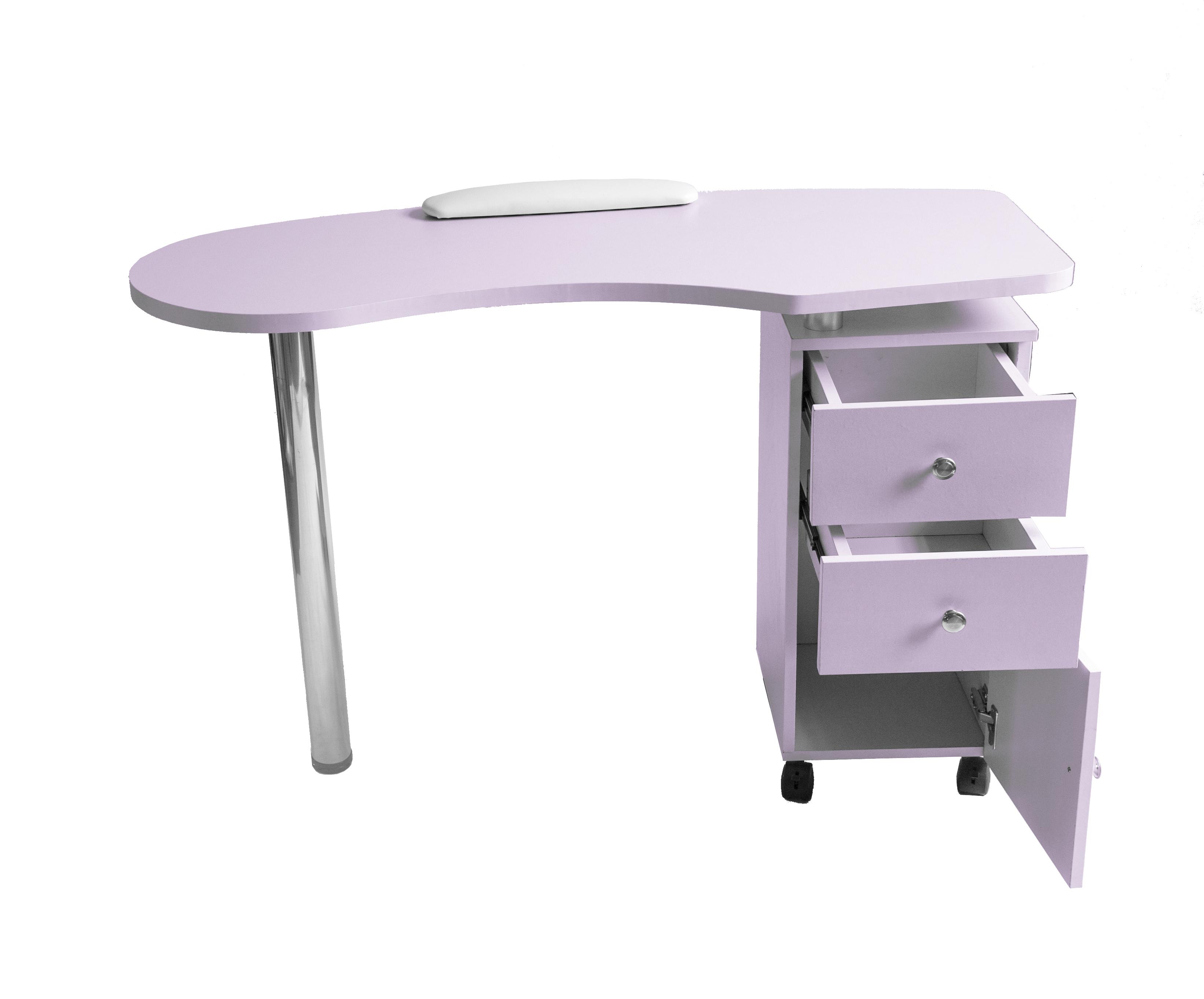 Barberpub purple manicure nail table station spa salon for A m salon equipment