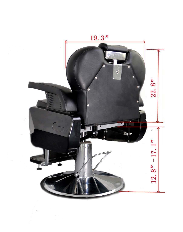 BarberPub All Purpose Hydraulic Recline Barber Chair Salon Beauty Spa 8702 Brown 17