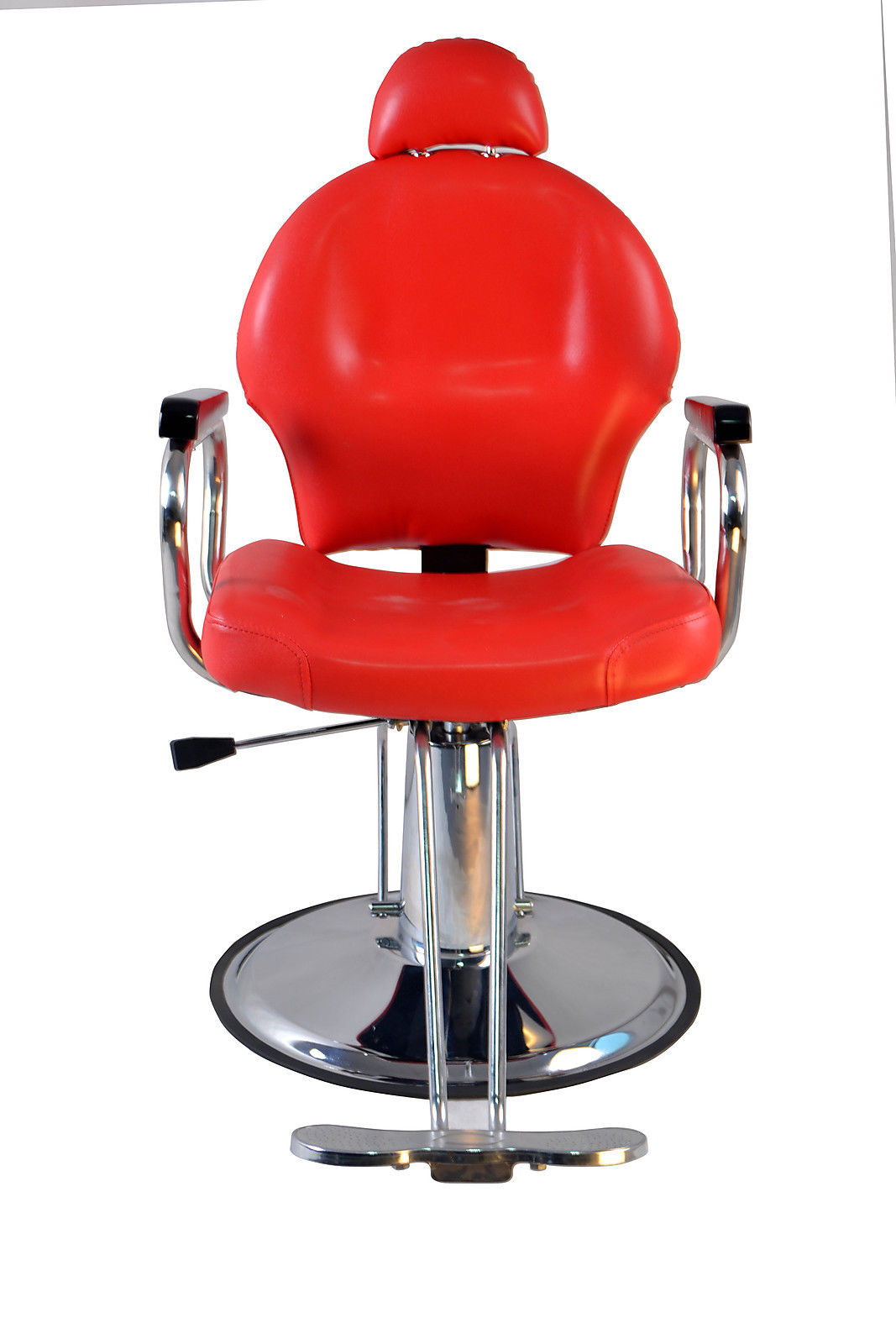Barberpub reclining hydraulic barber chair salon styling for Hydraulic chairs beauty salon
