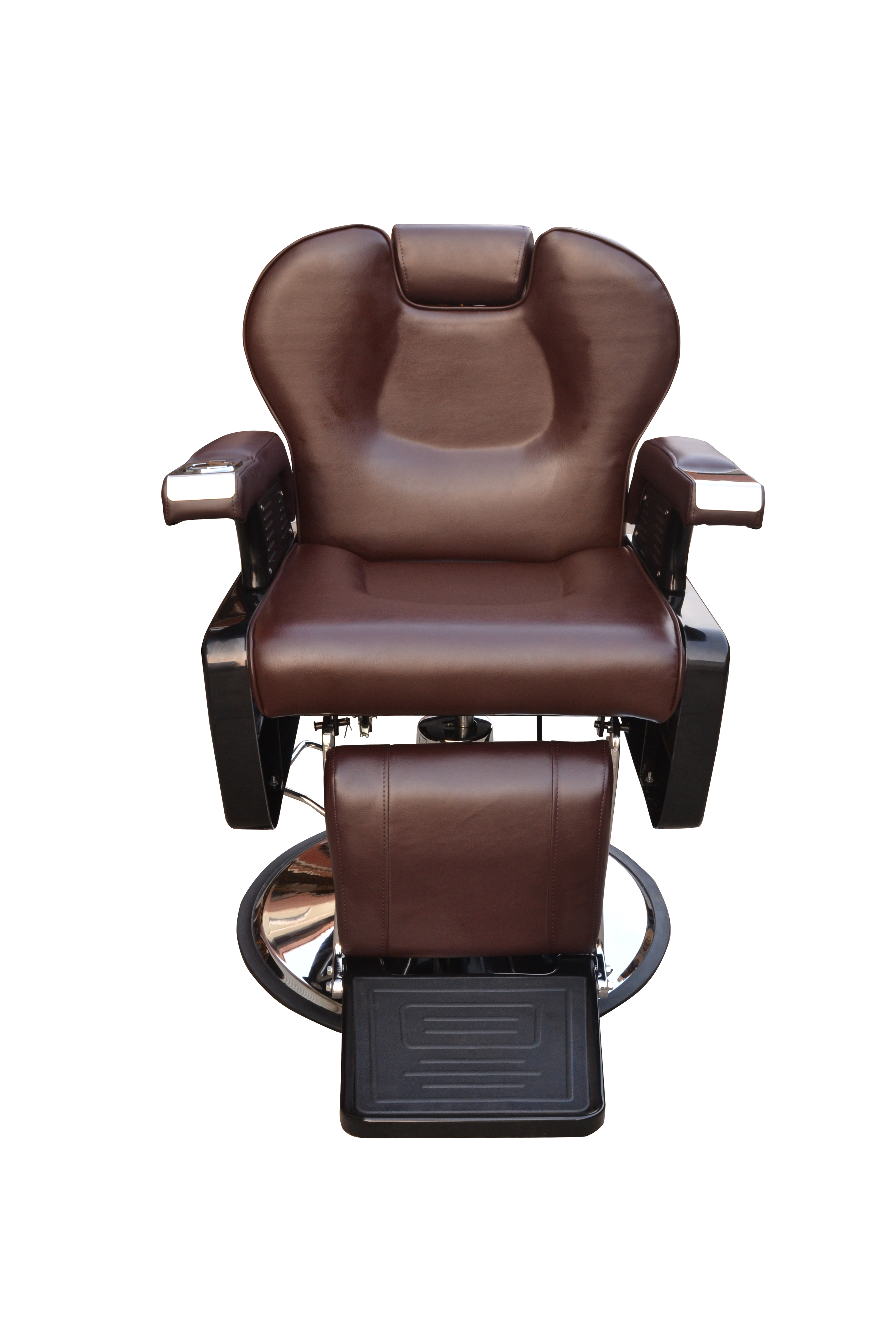 BarberPub All Purpose Hydraulic Recline Barber Chair Salon Beauty Spa 8702 Brown 12