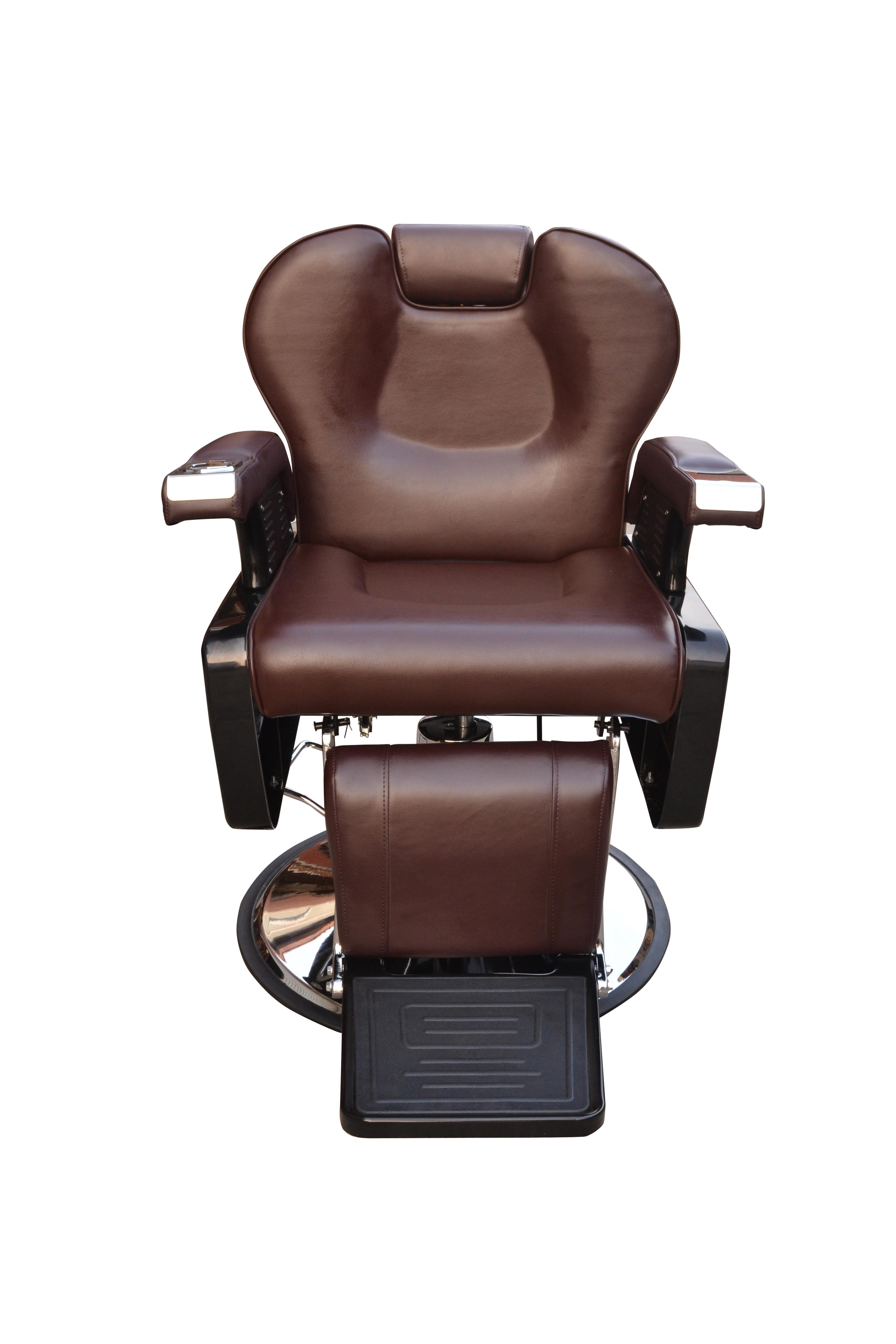 BarberPub All Purpose Hydraulic Recline Barber Chair Salon Beauty Spa 8702 Brown 12