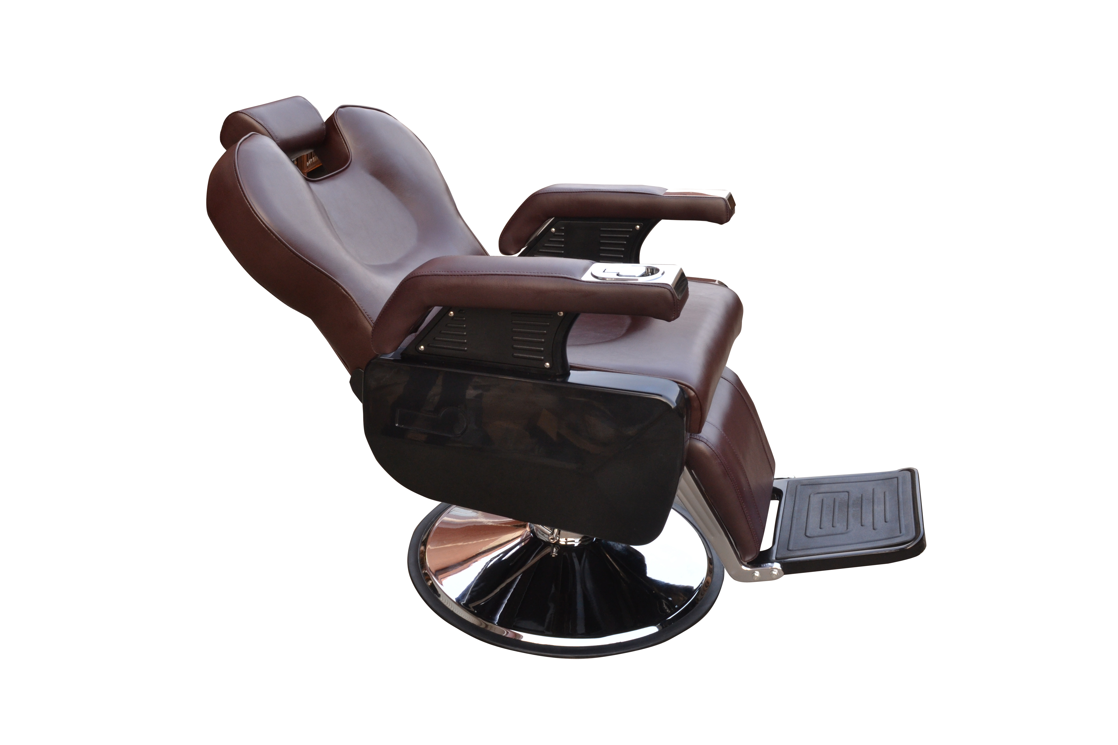 BarberPub All Purpose Hydraulic Recline Barber Chair Salon Beauty Spa 8702 Brown 14