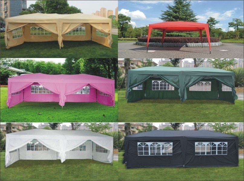 Ez Pop Up Wedding Party Tent Folding Gazebo Canopy W