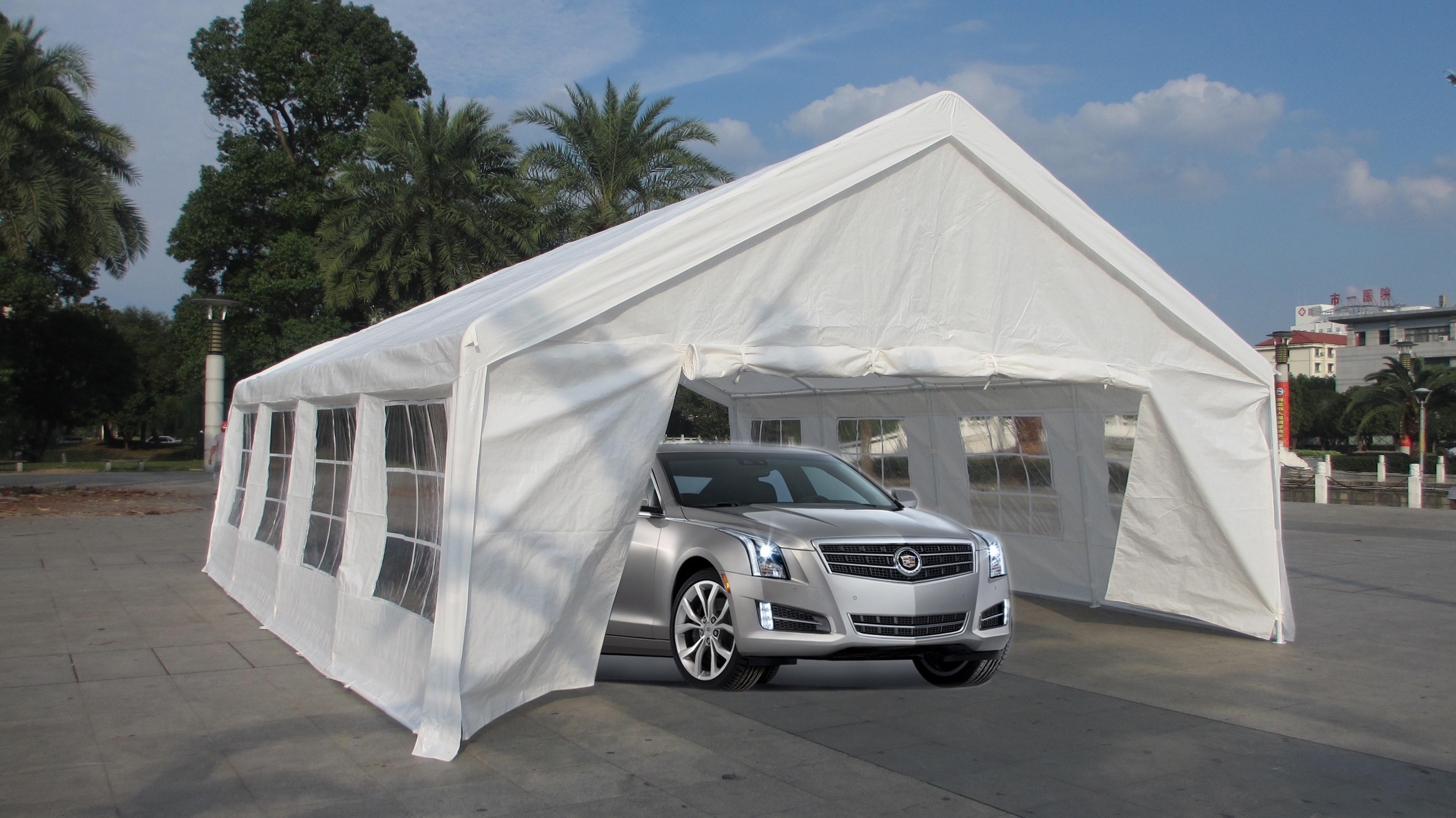 Canopy Car Tent : Mcombo white heavy duty carport party tent canopy