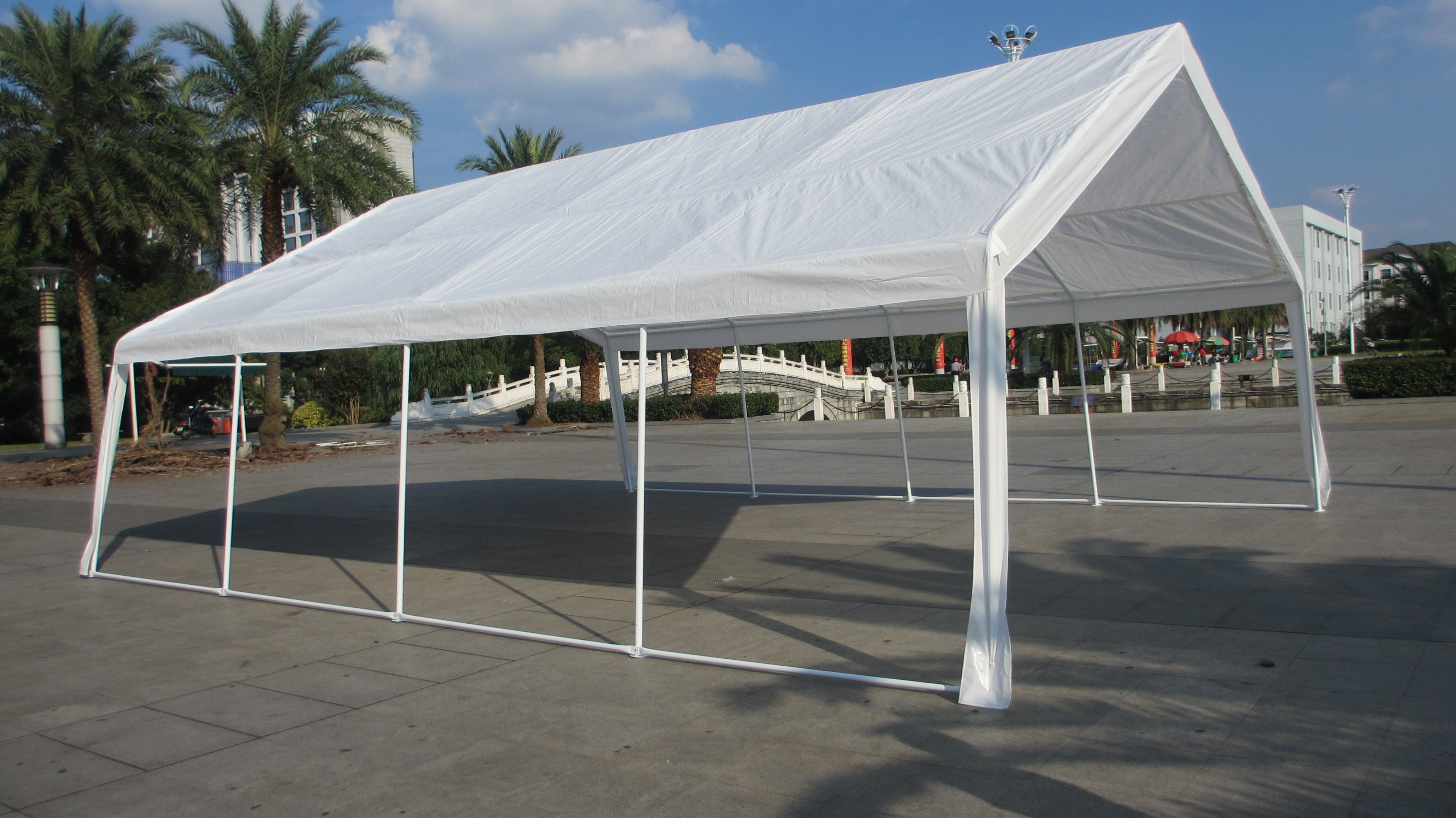Car Canopy Carport : Mcombo white heavy duty carport party tent canopy