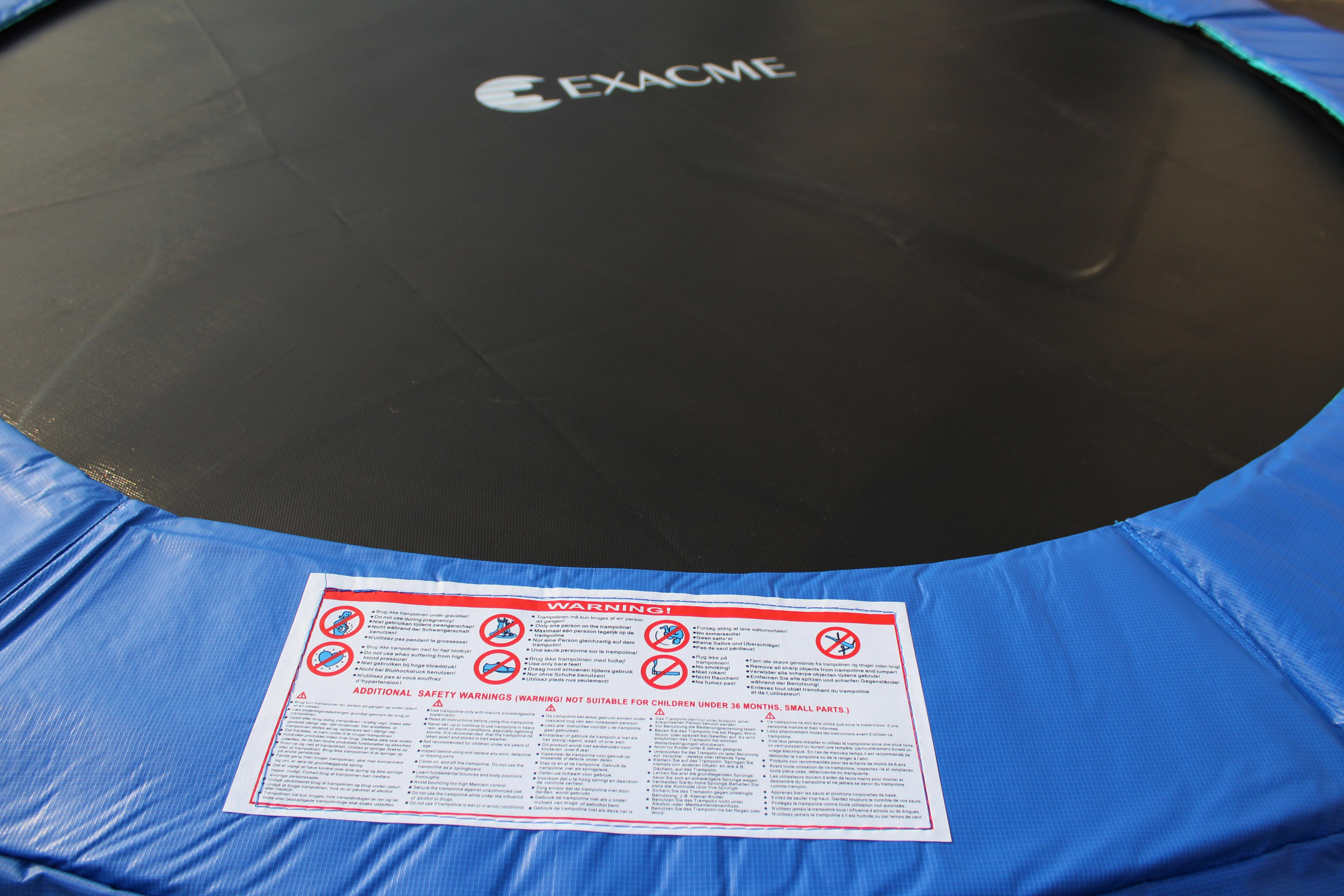 Exacme 12 Ft 6w Legs Trampoline W Safety Pad Amp Enclosure