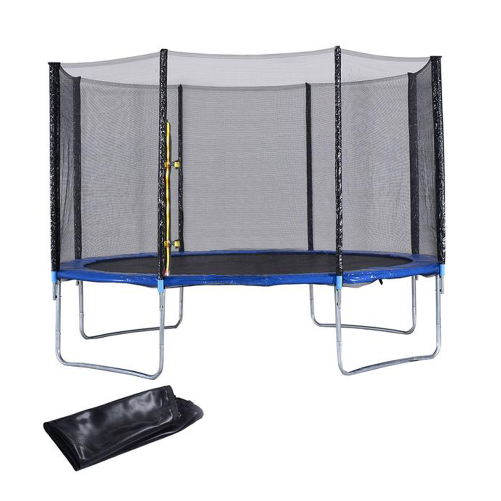 New Heavy Duty Trampoline 14 Ft With Ladder Safety Net: ExacMe 14FT Heavy Duty Trampoline Safety Enclosure Net W