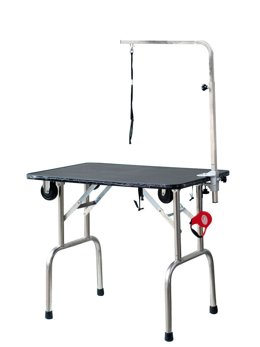 Dog Grooming Table Product : New large fortable portable pet dog grooming table w arm