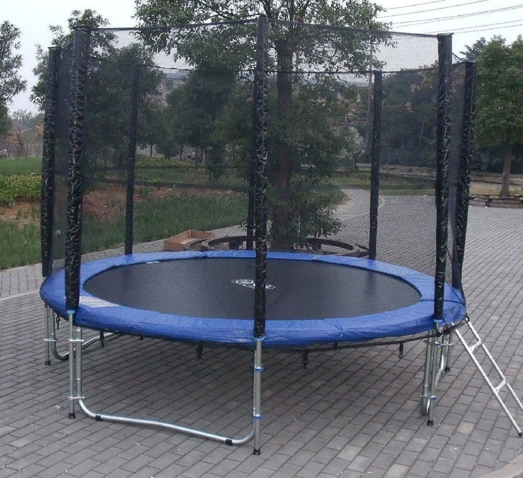 EXACME 10 FT Trampoline W/ Safety Pad & Enclosure Net ALL