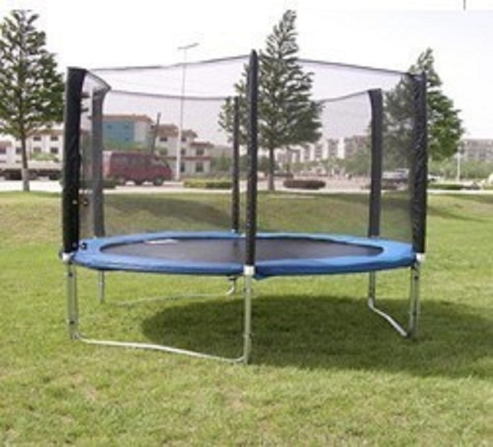 Exacme 8 Ft Trampoline W Safety Pad Enclosure Net All In