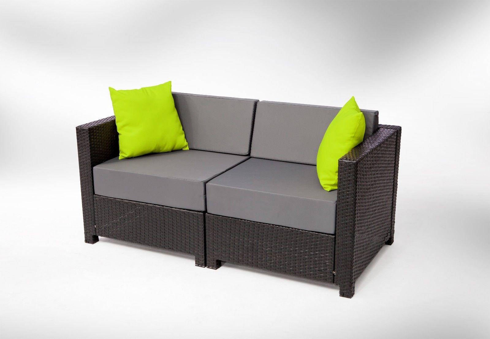 Mcombo 7pc black wicker patio sectional indoor outdoor for Indoor outdoor furniture