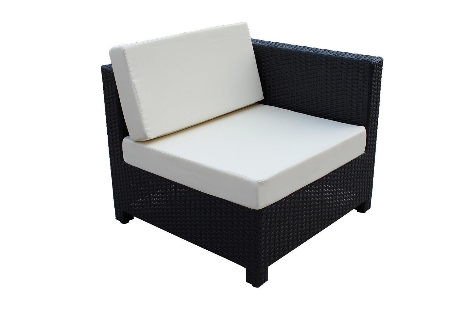 wicker patio sectional outdoor sofa furniture set white creme ebay