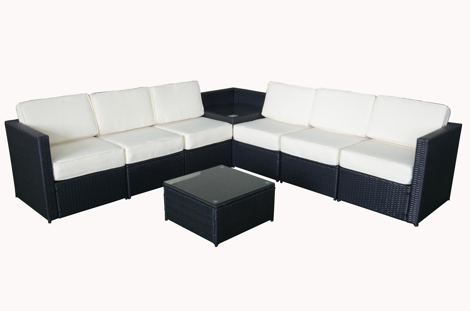 Mcombo 8pcs Black Wicker Patio Sectional Outdoor Sofa Furniture Set 6088 1008 Ebay