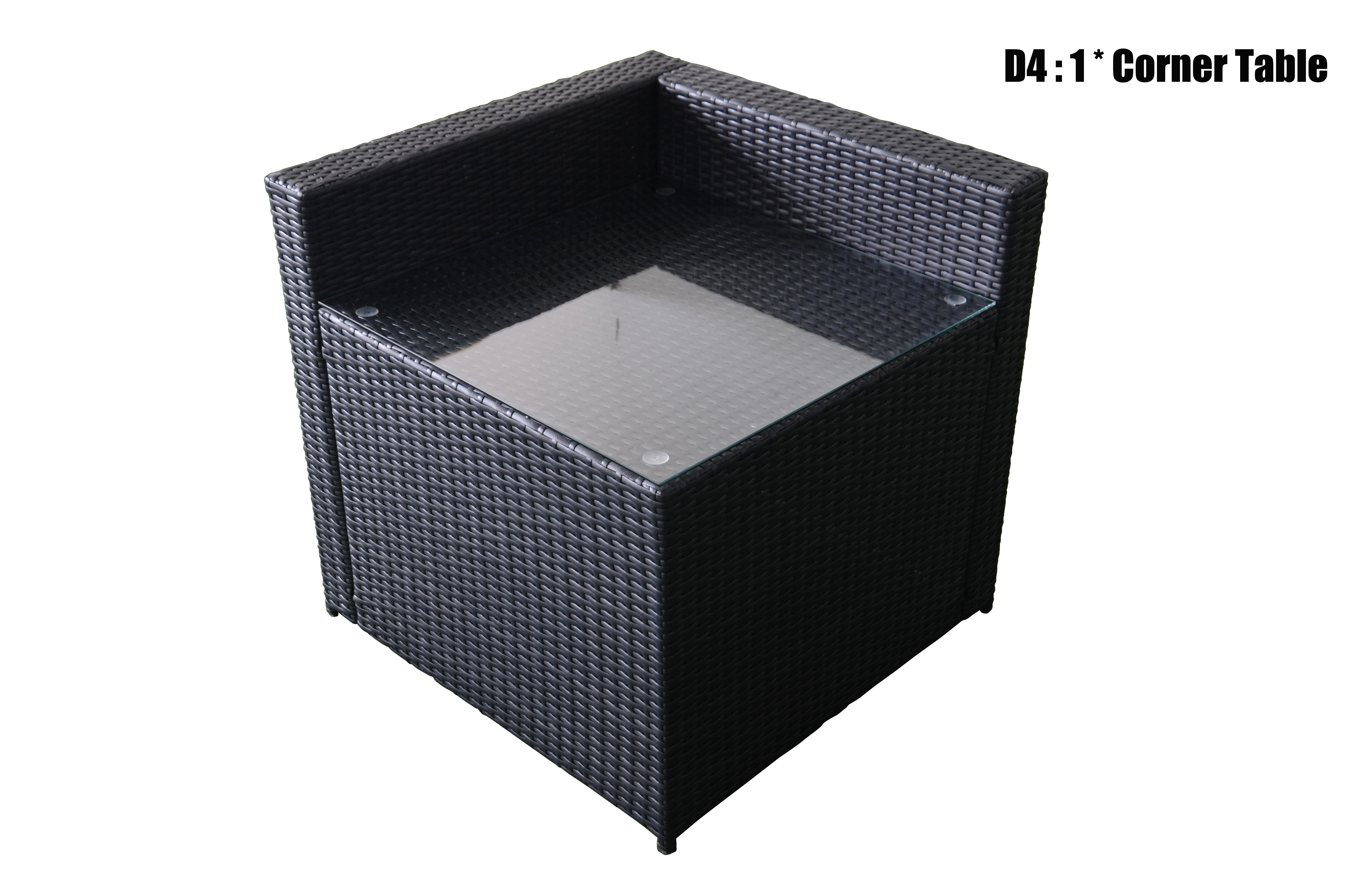 mcombo black wicker diy outdoor sofa patio sectional