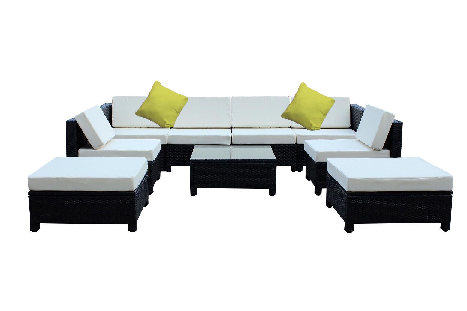 9 Pc Luxury Wicker Patio Sectional Indoor Outdoor Sofa