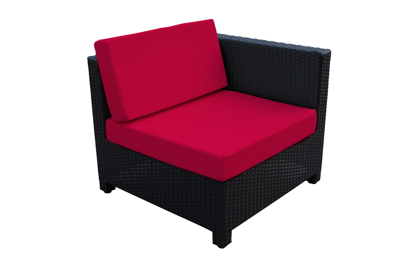 9 Pcs Luxury Wicker Patio Sectional Indoor Outdoor Sofa Furniture Set Red